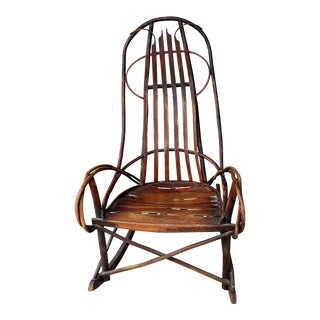Vintage Bentwood Hickory and Oak Twig Rocker For Sale