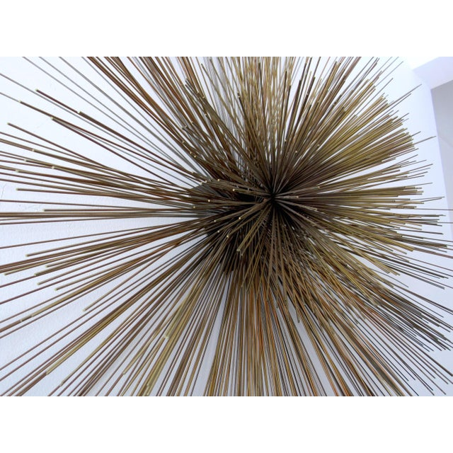 Brass Curtis Jere Large Spoke Wall Sculpture For Sale - Image 7 of 9