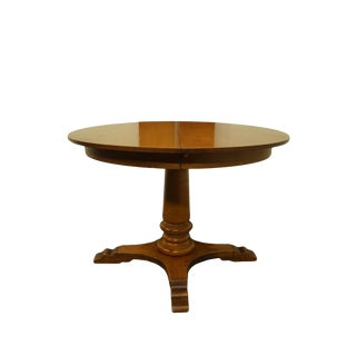 "Traditional Tell City Colonial Style 44"" Round Pedestal Dining Table For Sale"