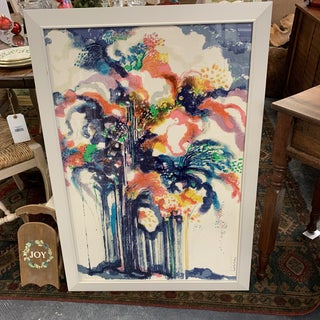 Mid-Century Original Signed Lithograph Print by Ronald Julius Christensen For Sale