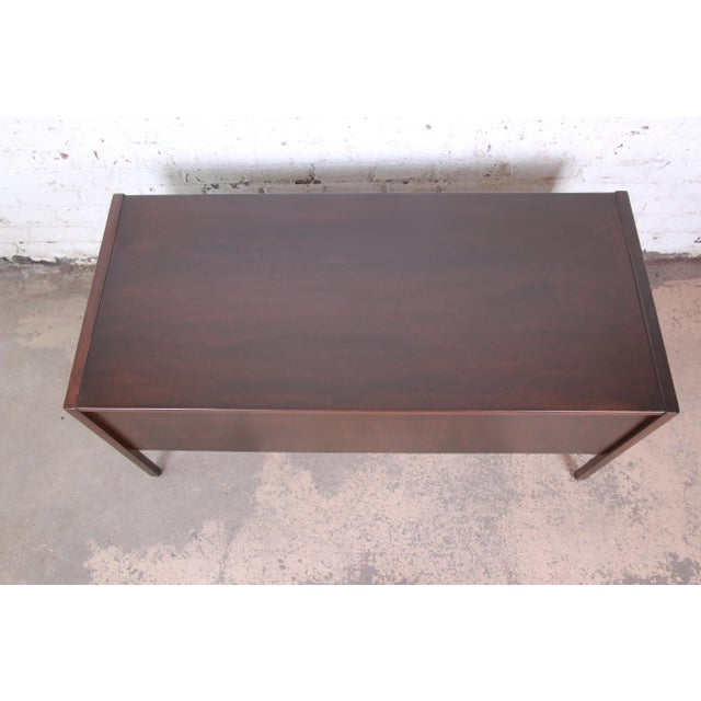 Jens Risom Mid-Century Modern Walnut Executive Desk, 1960s For Sale - Image 9 of 13