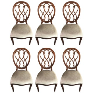 Medallion Back Dining Chairs - Set of 6