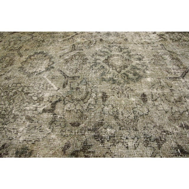 Asian Distressed Antique Persian Mahal Rug With Modern Industrial Style, 10'06 X 13'07 For Sale - Image 3 of 8