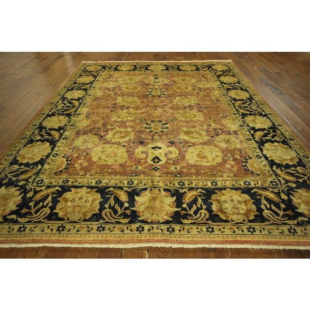 Oushak Blue Floral Chobi Wool Rug - 8' x 10' - Image 3 of 10