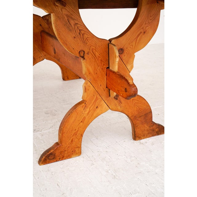 Farmhouse Swedish Rural Pinewood Table, 19th Century For Sale - Image 3 of 7