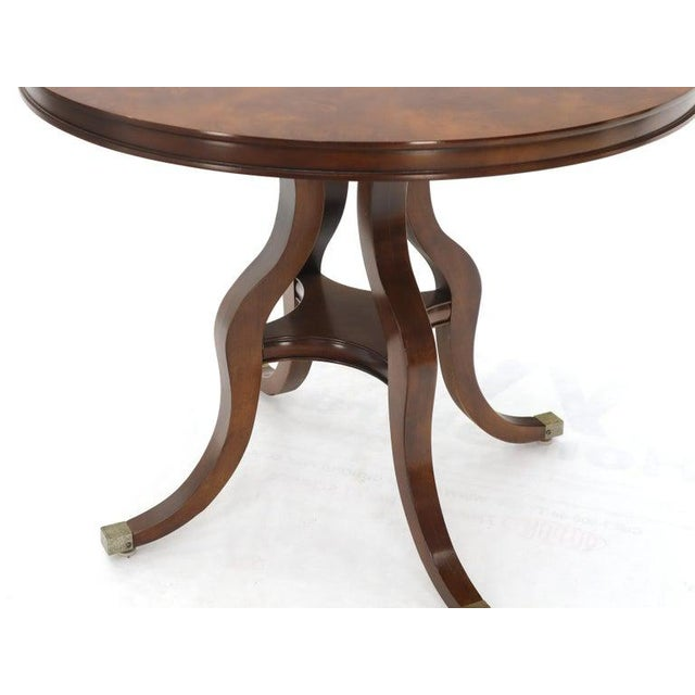 Flame Mahogany Round Top Lamp Table by Century For Sale - Image 11 of 13