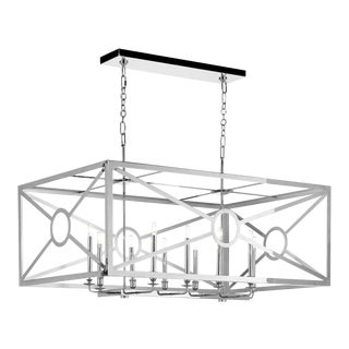 Chilton Grove Chandelier, Nickel For Sale