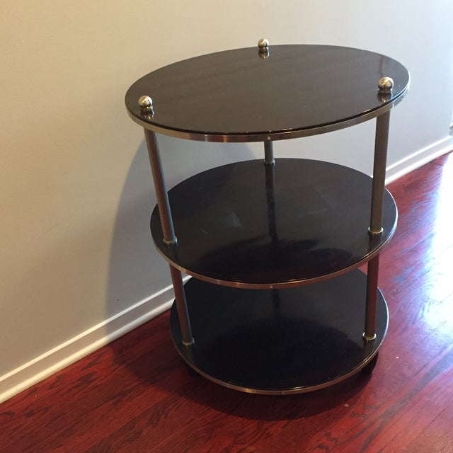 Art Deco Barbara Barry for Baker Nightstand or Side Table For Sale - Image 3 of 6