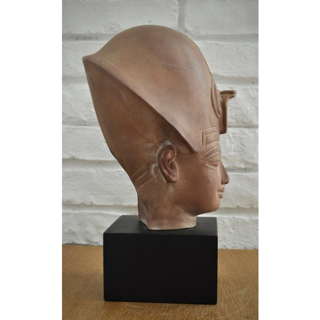 Boho Chic Egyptian Terracotta Bust For Sale - Image 3 of 4