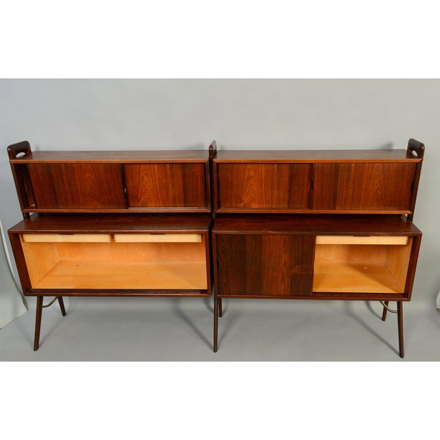 Danish Modern Kurt Ostervig Rosewood Wall Unit Bookcase For Sale - Image 3 of 7