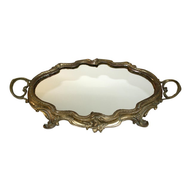Antique French Louis XV Mirrored Tray - Image 1 of 7