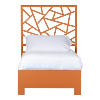 Tiffany Bed Twin Extra Long - Orange For Sale