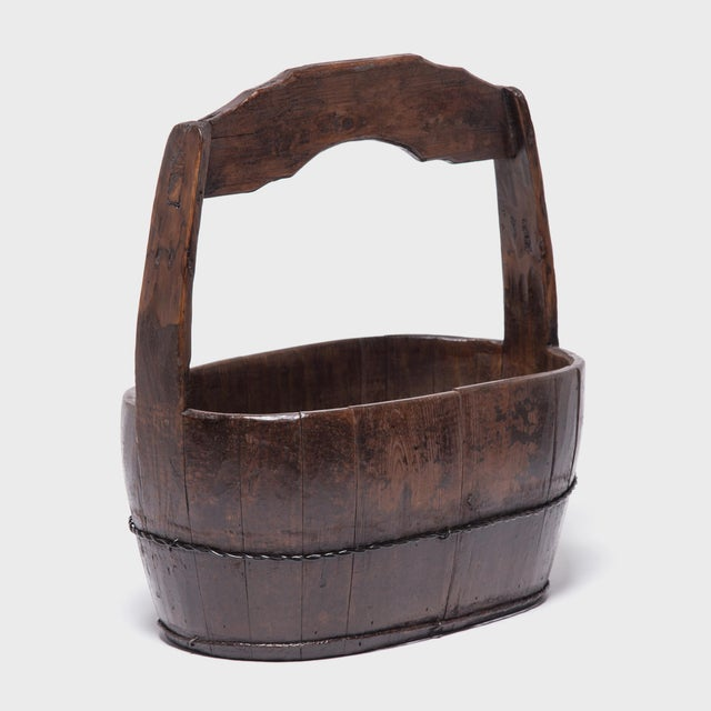 19th Century Chinese Burden Bucket For Sale - Image 4 of 7