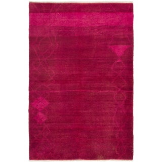 "Pink Hand-Knotted Rug-5'9"" X 8'10 For Sale"