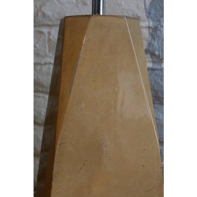 Karl Springer Style Vintage Goatskin Lamp For Sale In Palm Springs - Image 6 of 7
