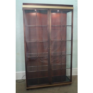 Design Institute of America (DIA) Large 2 Door Coppertone & Brass Display Curio Cabinet Preview
