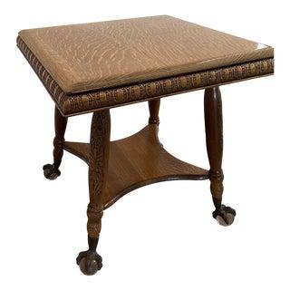 1900s Quarter Oak Parlor Table For Sale