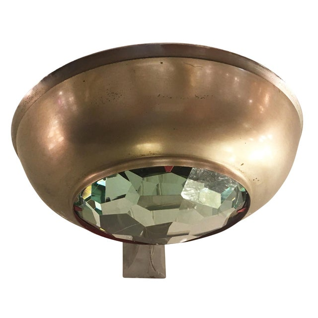 Fontana Arte Max Ingrand for Fontana Arte Wall Light With Faceted Glass For Sale - Image 4 of 6