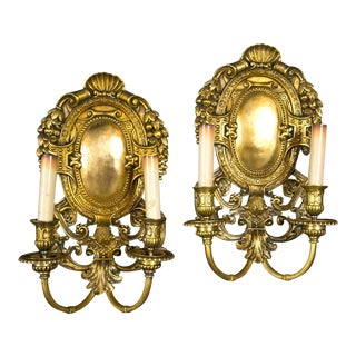 Caldwell Neoclassical Gilt Bronze Sconces - a Pair For Sale