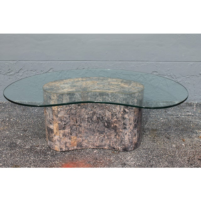Mid-Century Kidney Shaped Tessellated Stone Coffee Table - Image 4 of 10