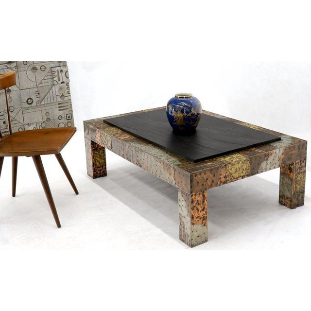 Paul Evans Paul Evans Mid-Century Modern Rectangular Coffee Table With Slate Top For Sale - Image 4 of 12
