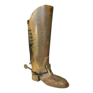 Brass Boot Umbrella Stand For Sale