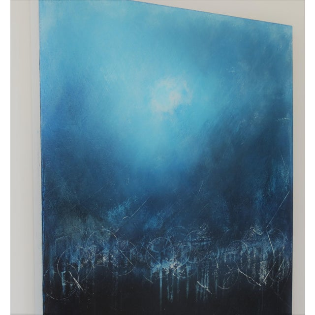 2010s Light Over Darkness, Indigo. 2018 Oil on Canvas by C. Damien Fox For Sale - Image 5 of 8