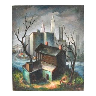 1940s Landscape Painting For Sale