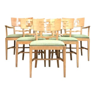 Paul Frankl Style Mid Century Modern Dining Chairs - Set of 6 For Sale