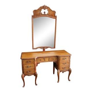Louis XV Style Walnut Vanity For Sale