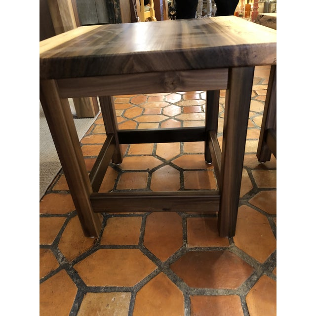 2020s Artisan Made Amish Custom Poplar End Tables -A Pair For Sale - Image 5 of 11