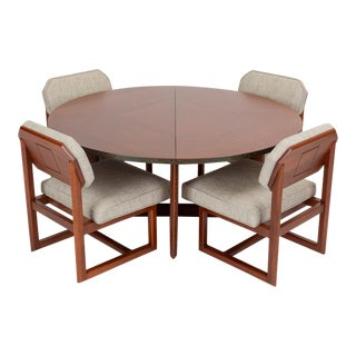 "Frank Lloyd Wright ""Taliesin"" Game Table With Four Chairs For Sale"