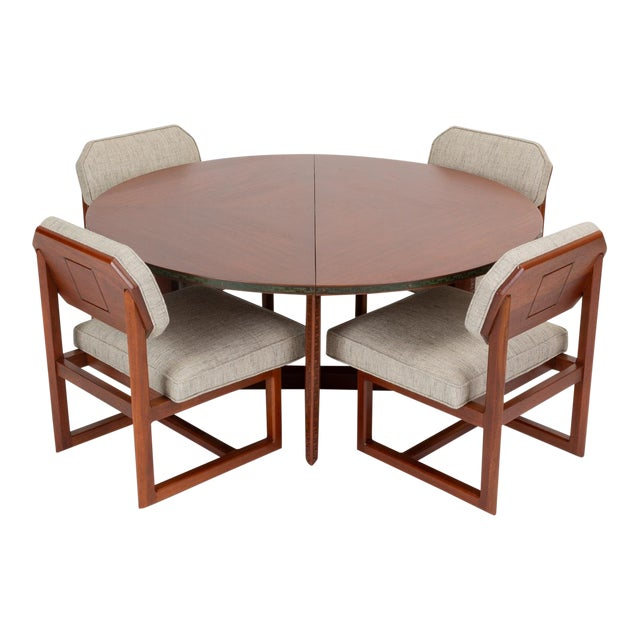 """Frank Lloyd Wright """"Taliesin"""" Game Table With Four Chairs For Sale"""