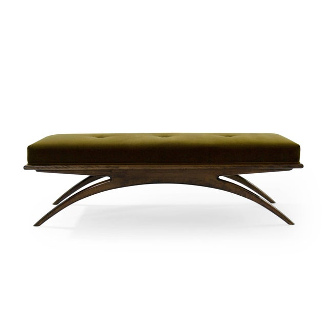 The Convex bench designed by Carlos Solano-Granda for Stamford Modern. Artistically handcrafted from solid walnut...