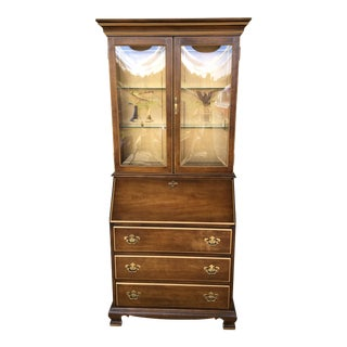 Jasper Furniture Lighted Maple Secretary Desk