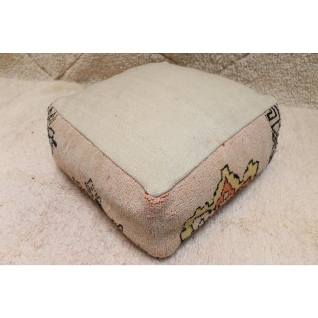 Moroccan Rug Pillow Pouf Cover (Unstuffed) For Sale - Image 9 of 10