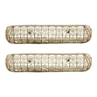 1930s Art Deco Crystal Wall Sconces - a Pair For Sale