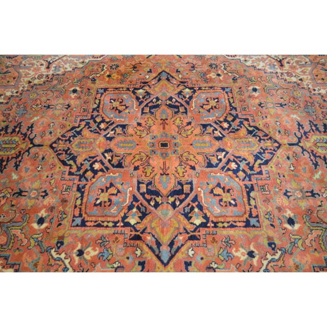 Maroon Karastan Heriz Serapi 9 X 12 Room Size Rug # 726 For Sale - Image 8 of 13