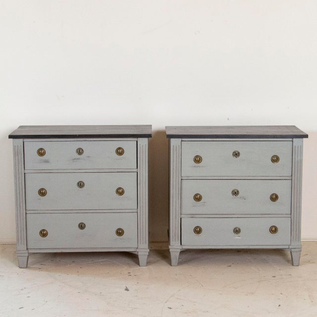19th Century Antique Swedish Gustavian Nightstands-a Pair For Sale - Image 9 of 9