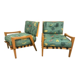 Paul Laszlo Modernist Lounge Chairs in Ash - a Pair For Sale