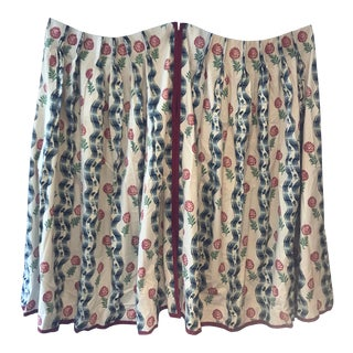 "Brunschwig Et Fils ""Grilly"" Fabric Custom Curtains - a Pair For Sale"