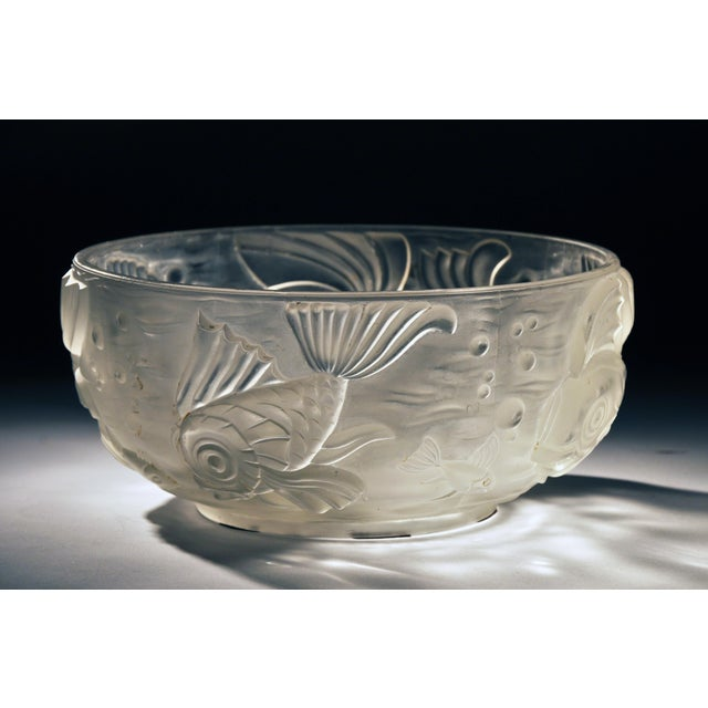Molded and Frosted Glass Bowl - Image 3 of 6