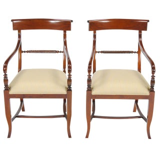Niagara Furniture Twist Back Arm Chair - a Pair For Sale