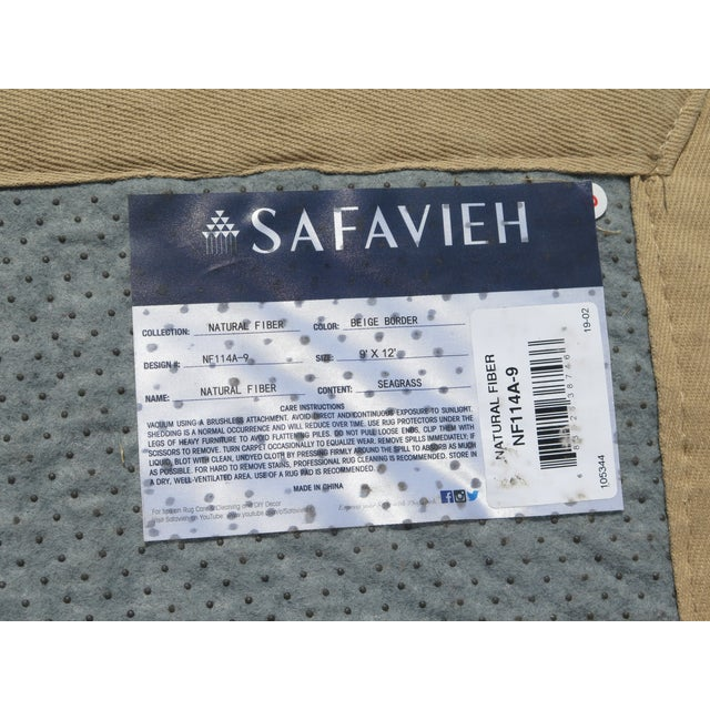 Safavieh Natural Fiber Seagrass Rug- 8′6″ × 11′10″ For Sale In Philadelphia - Image 6 of 7