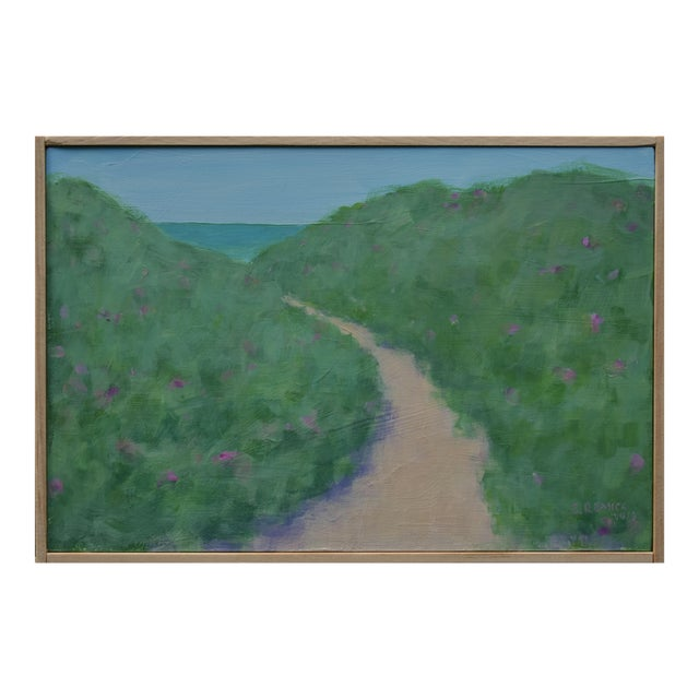 """Path Through the Beach Roses"" Contemporary Painting by Stephen Remick For Sale"