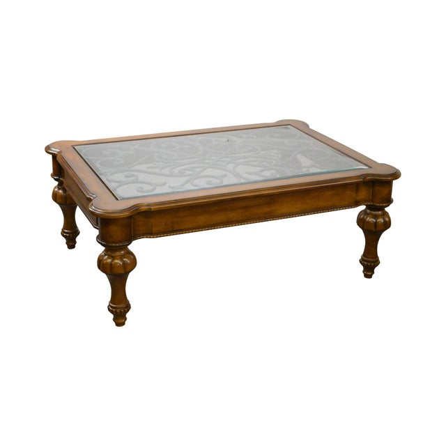 Ethan Allen Devereaux Tuscan Style Coffee Table For Image 11 Of