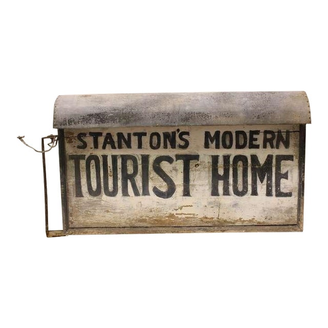 """1920's Vintage """"Tourist Home"""" Double Sided Sign For Sale"""