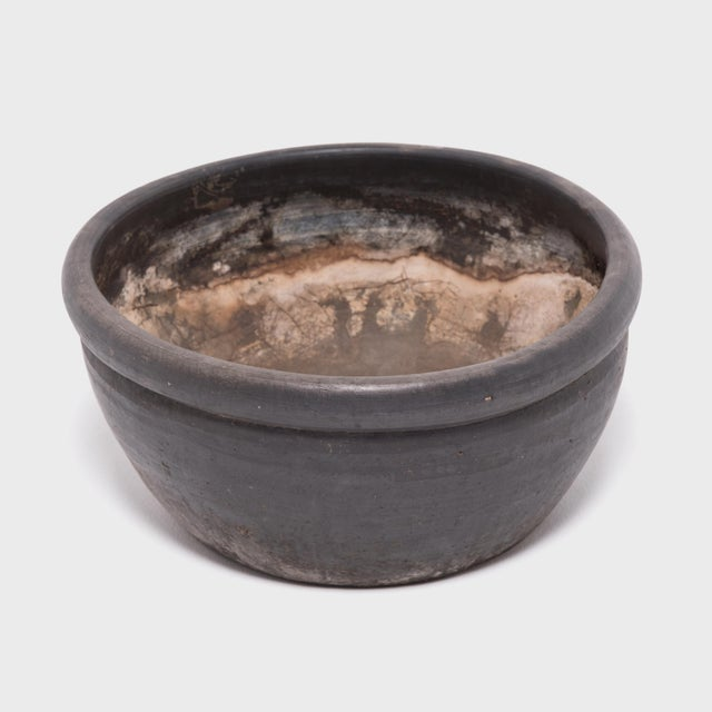 Asian Chinese Black Clay Basin For Sale - Image 3 of 6