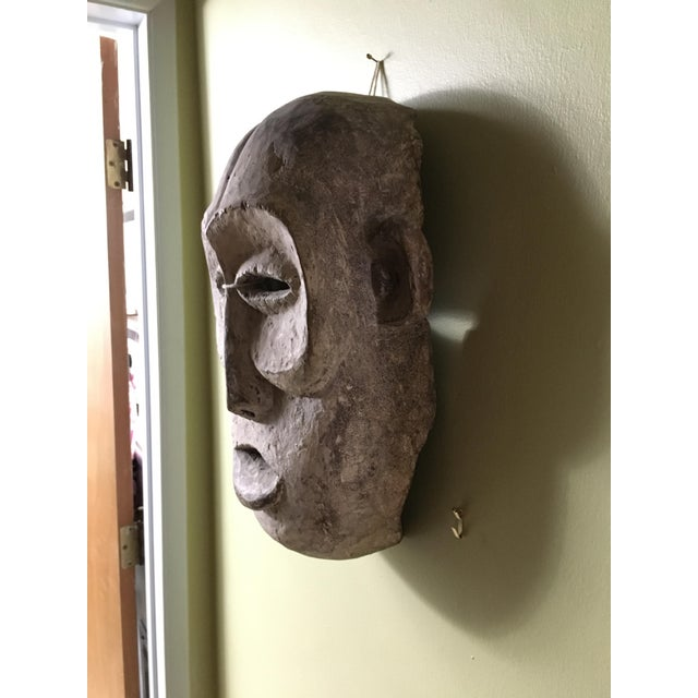 Vintage Tribal Hand Carved African Mask For Sale - Image 5 of 9