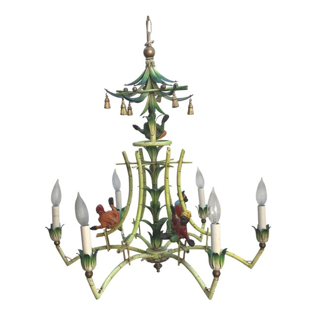 Victorian monkey and bamboo chandelier chairish victorian monkey and bamboo chandelier image 1 of 5 mozeypictures Gallery